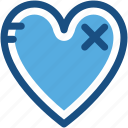 broken heart, heart, heart disease, remedy, treatment icon