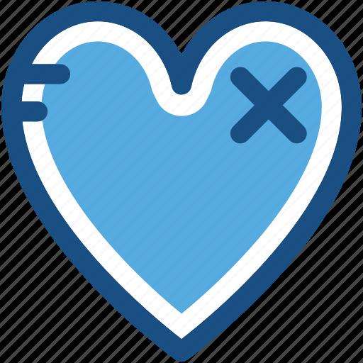 broken heart, heart, heart disease, remedy, treatment icon