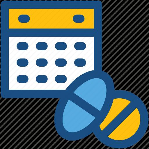 calendar, medicine schedule, medicine time, schedule, treatment duration icon