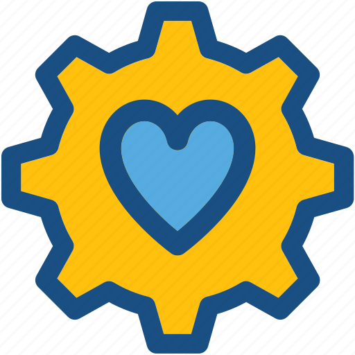 cardiology, cog, health care, heart, heart care icon