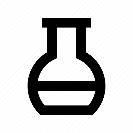 Conical flask, elementary flask, flask, lab equipment, lab flask icon - Download on Iconfinder