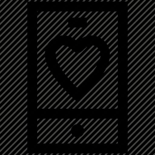 health, healthcare, heart, love, mobile, phone icon