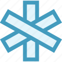 emergency, healthcare, medical, medical star, medical symbol, star of life