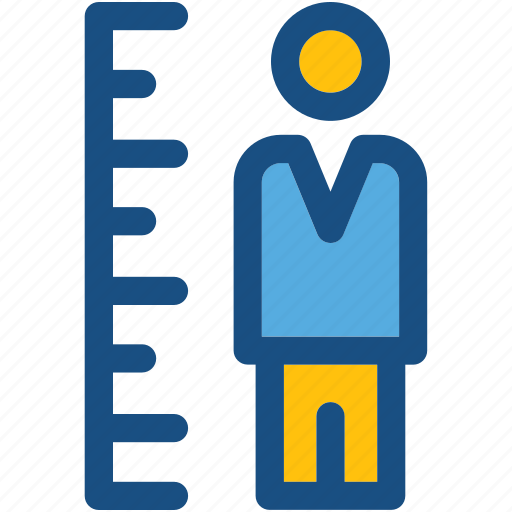 growth chart, height chart, height measurement, height scale, man icon