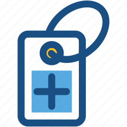 hospital sign, hospital tag, label, sticker, tag icon