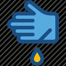 bleeding, blood drop, hand, hand injury, wound icon