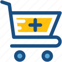 medicine supply, pharmacy, pharmacy cart, pharmacy logo, shopping trolley icon