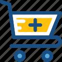 medicine supply, pharmacy, pharmacy cart, pharmacy logo, shopping trolley icon