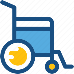 disability, disabled, handicap, patient chair, wheelchair icon