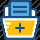 documents, files, folder, hospital record, medical folder
