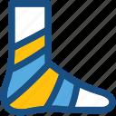 feet plaster, foot, fracture, injury plaster, limb plaster icon