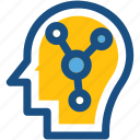 brain, brainstorm, creative mind, human head, thinking icon