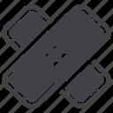 band aid, bandage, plater icon