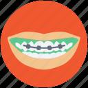 braces, dental braces, dental brackets, medical, teeth braces icon