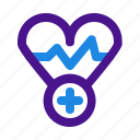health, heart, medical, medicine, rate icon