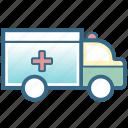 emergency, healthcare, medical, patient, rescue, van, vehicle icon