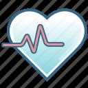 activity, healthcare, heart, heartbeat, heartrate, hospital, life icon