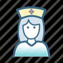 avatar, care, female, hospital, medical, nurse, staff icon