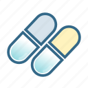 capsule, dose, drugs, hospital, medical, medicine, pills icon