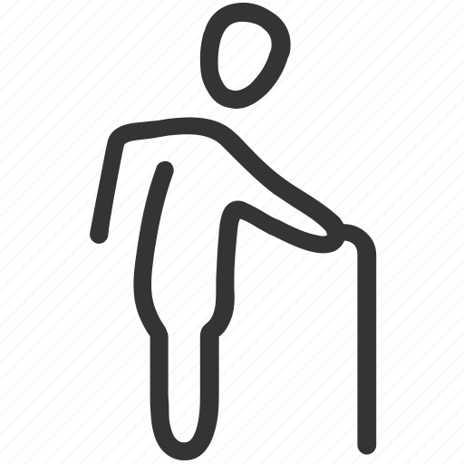 back, backache, old, old man, osteoporosis, pain icon