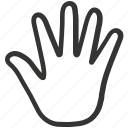 biometric, fingerprint, fingers, gesture, hand icon