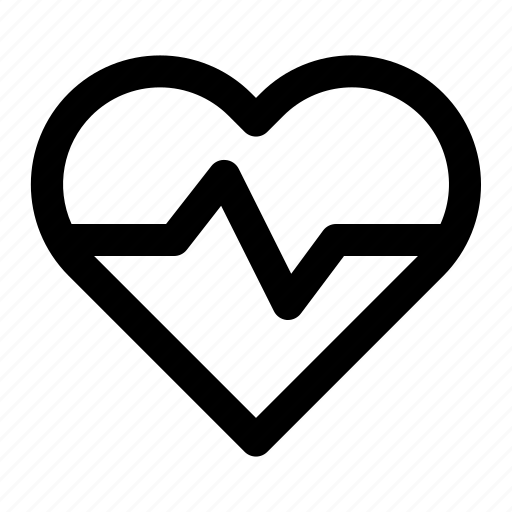 health, healthcare, heart, love, medical, pulse icon