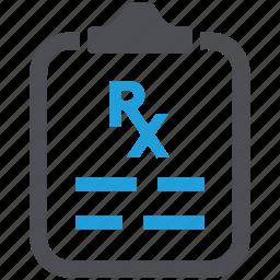 drug, medication, medicine, pharmaceutical, pharmacy, prescription, recipe icon