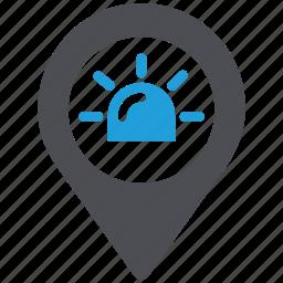 ambulance, emergency, healthcare, location icon