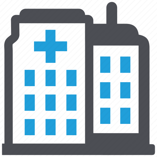 building, clinic, hospital, hospital building, medical center icon