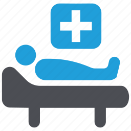 hospital, medical, medical care, medical treatment, patient, sickbed icon