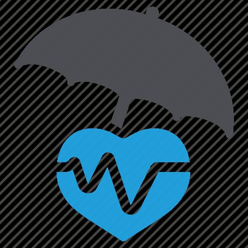 health insurance, heart care, heart insurance, heart protection, life insurance, pulse icon