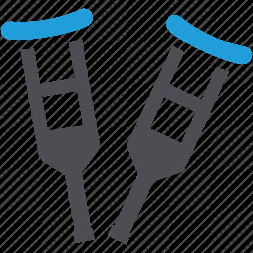 broken, crutches, equipment, leg, legs icon