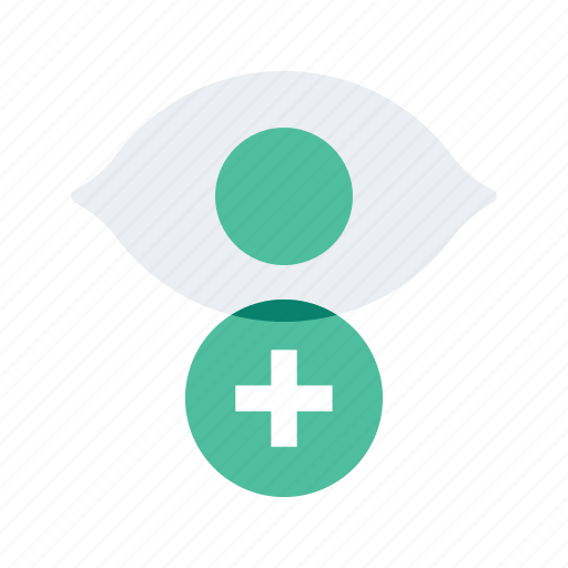 add, health, healthcare, medical, medicine, visibility icon