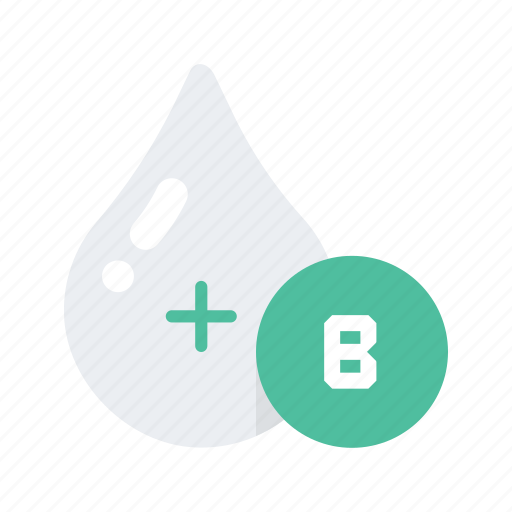 b, blood, health, healthcare, medical, medicine, type icon