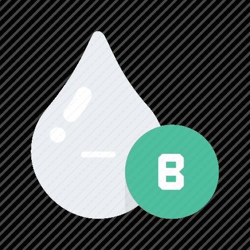 Blood, health, healthcare, medical, medicine, negative, type icon - Download on Iconfinder