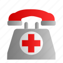 call, contact, medical, phone, telephone icon