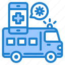 ambulance, coronavirus, covid19, hospital, mobilephone