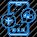 coronavirus, covid19, hospital, message, mobilephone