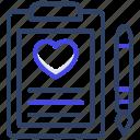 patient card, prescription, rx, cardio report, heart report icon