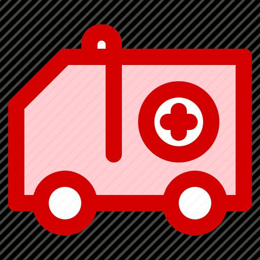 ambulance, car, emergency, health, hospital, medical, transportation icon