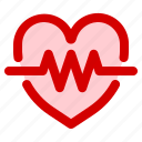 bar, cardiogram, health, heart, medical, stats icon