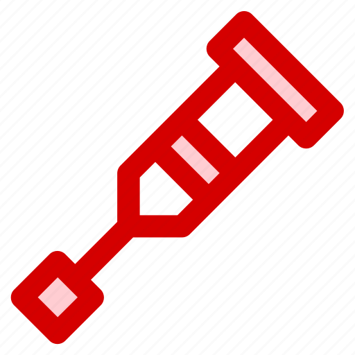 crutches, foot, health, injury, medical, tool icon