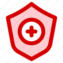 anti, defense, guard, heal, health, medical, shield icon