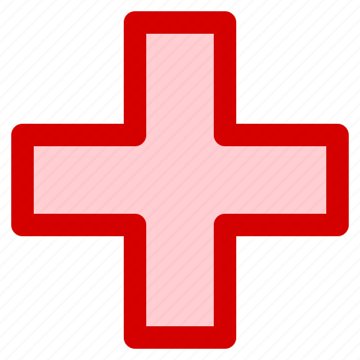 cross, health, hospital, medical, sign icon