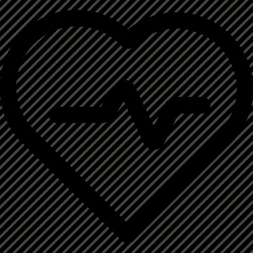health, heart, heartbeat, love icon