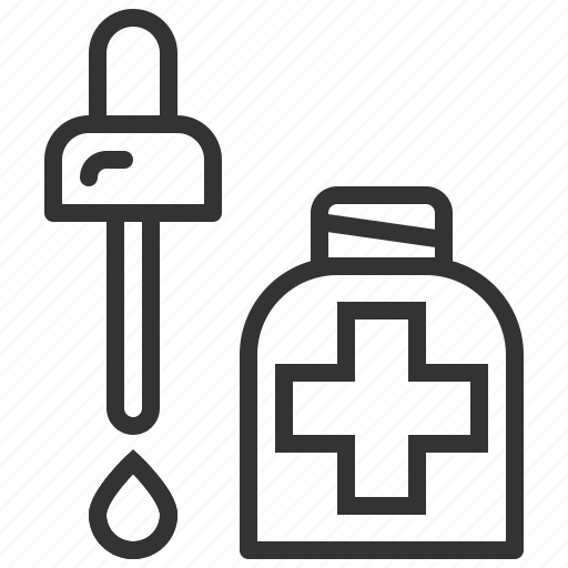 Dropper, pipette, picker, medical, medicine, drop icon - Download on Iconfinder