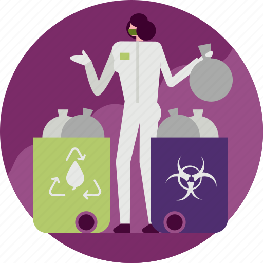 biohazard, cleaner, garbage, hospital, recycle, remove, trash icon
