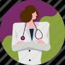 medical, avatar, clinic, doctor, hospital, profile, woman