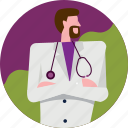 avatar, clinic, doctor, hospital, man, medical, profile icon