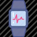 cardio, healthcare, medicine, pulse, watch icon